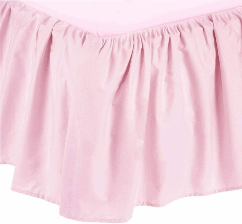 American Baby Company Ultra Soft Microfiber Ruffled Crib Skirt - Pink Perspective: front