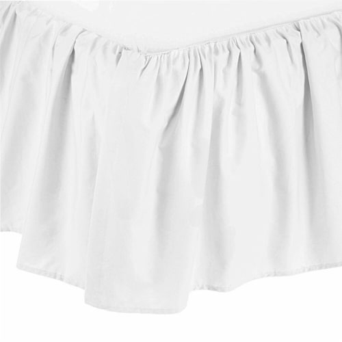 American Baby Company Ultra Soft Microfiber Ruffled Crib Skirt - White Perspective: front