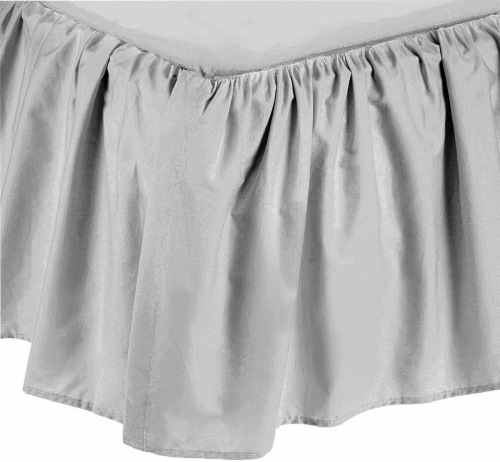American Baby Company Ultra Soft Microfiber Ruffled Crib Skirt - Gray Perspective: front