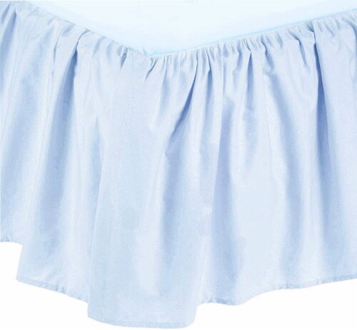 American Baby Company Ultra Soft Microfiber Ruffled Crib Skirt - Blue Perspective: front