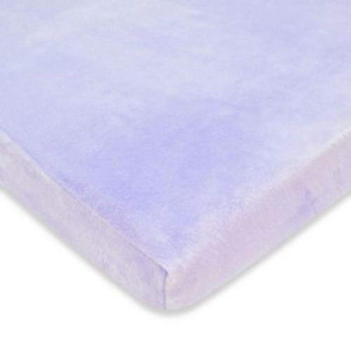 American Baby Heavenly Soft Chenille Crib Sheet - Lavender Perspective: front