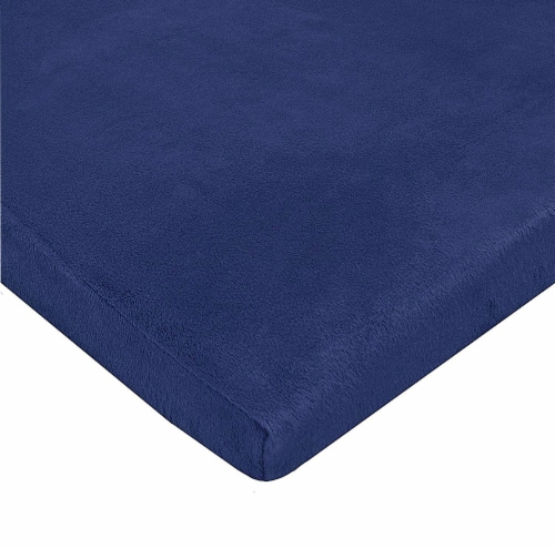 American Baby Heavenly Soft Chenille Playard Sheet - Navy Perspective: front