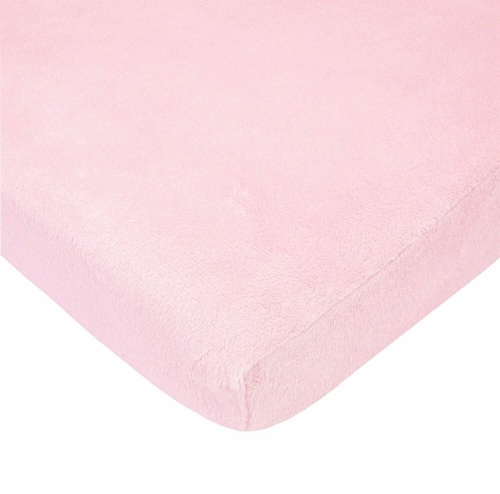 American Baby Heavenly Soft Chenille Playard Sheet - Pink Perspective: front