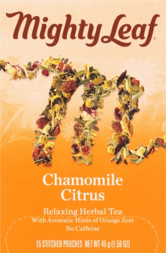 Mighty Leaf Chamomile Citrus Tea Stitched Pouches Perspective: front