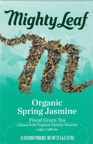 Mighty Leaf Jasmin Du Printemps Biologique Tea Sachets Perspective: front