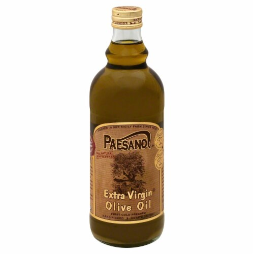 Paesano Unfiltered Extra Virgin Olive Oil Perspective: front