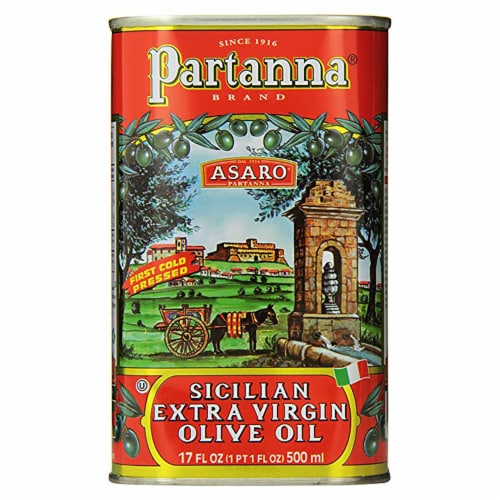 Partanna Sicilian Extra Virgin Olive Oil Perspective: front