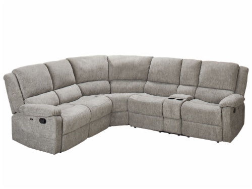 Living Style Nealy Sofa Sectional Couch - Gray Perspective: front