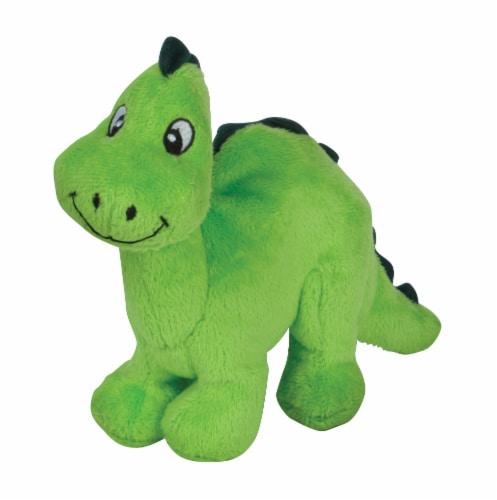 SmartPetLove Tender-Tuff Little Green Dino Dog Toy Perspective: front