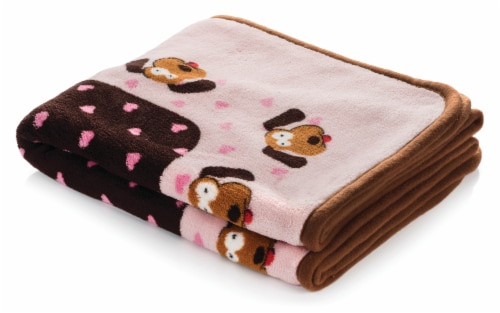 SmartPetLove Pink Heart Snuggle Puppy Snuggle Blanket Perspective: front
