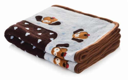 SmartPetLove Blue Heart Snuggle Puppy Snuggle Blanket Perspective: front