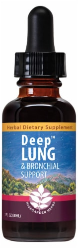 WishGarden Herbs Deep Lung & Bronchial Support Supplement Perspective: front