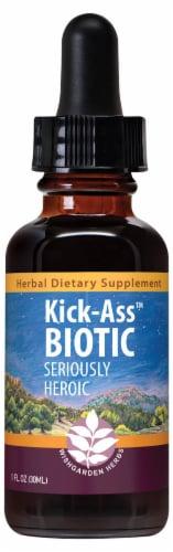 WishGarden Herbs Kick-Ass Biotic Dietary Supplement Perspective: front