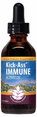 WishGarden Herbs Kick-Ass Immune Activator Dropper Perspective: front