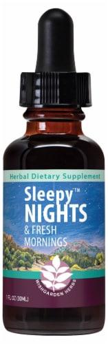 WishGarden Herbs Sleepy Nights Non-Sedative Aid Dropper Perspective: front