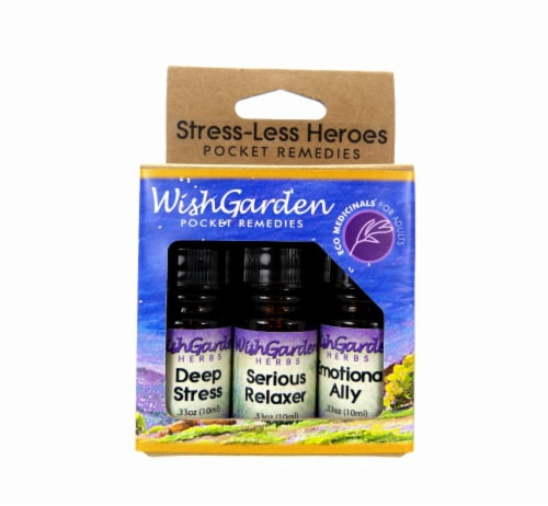 WishGarden Herbs Stress-Less Heroes Serious Relaxer Pocket Size Perspective: front