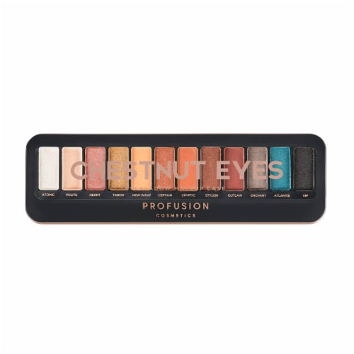 Profusion Cosmetics Chestnut Eyes 12 Shade Eyeshadow Makeup Case Perspective: front
