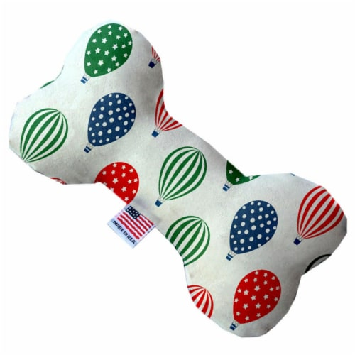 Mirage Pet 1237-SFTYBN6 Hot Air Balloons 6 in. Stuffing Free Bone Dog Toy Perspective: front
