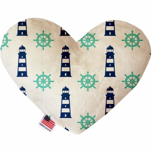 Mirage Pet 1262-SFTYHT6 Lighthouses 6 in. Stuffing Free Heart Dog Toy Perspective: front