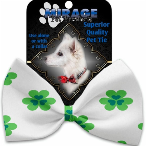 Mirage Pet 1223-VBT Lucky Charms Pet Bow Tie Collar Accessory with Cloth Hook & Eye Perspective: front