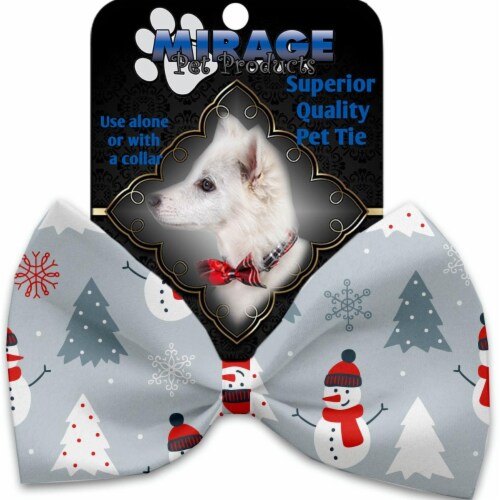 Mirage Pet 1318-VBT Look at Frosty Go Pet Bow Tie Collar Accessory with Cloth Hook & Eye Perspective: front