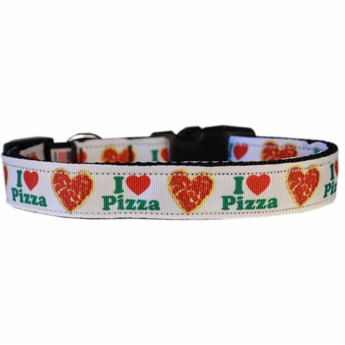 Mirage Pet 125-277 CT Pizza Party Nylon Cat Safety Collar Perspective: front
