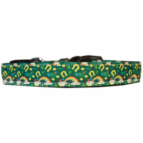 Mirage Pet 125-287 MDN Lucky Puppy Charms Nylon Dog Collar - Medium Narrow Perspective: front