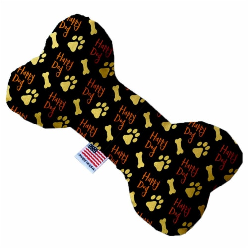 Mirage Pet 1207-CTYBN10 Happy Dog Canvas Bone Dog Toy - 10 in. Perspective: front