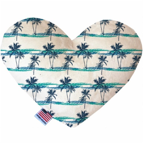 Mirage Pet 1210-CTYHT6 Palm Tree Paradise Canvas Heart Dog Toy - 6 in. Perspective: front