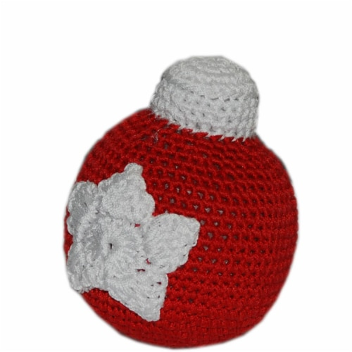 Mirage Pet Products 500-111 CBL Knit Knacks Christmas Ornament Ball Organic Cotton Dog Toy, S Perspective: front