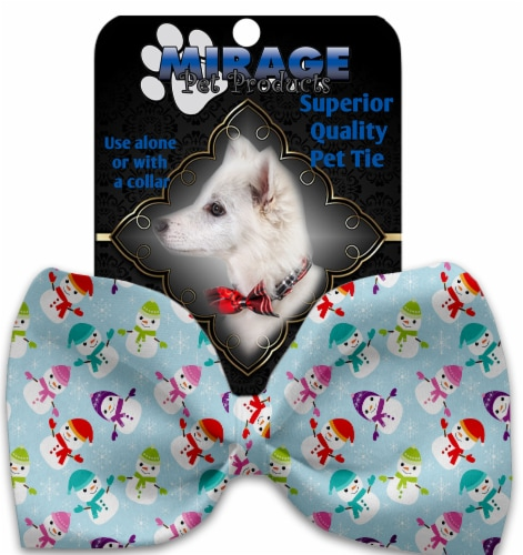 Colorful Frosty Pet Bow Tie Collar Accessory with Velcro Perspective: front