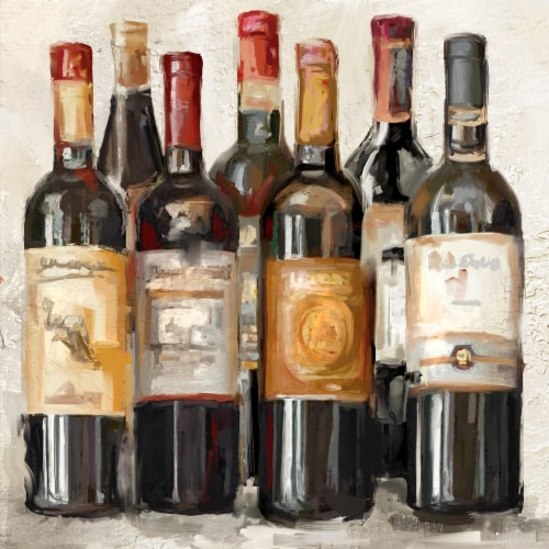 Vinology Wine Bottles Wall Decor Perspective: front