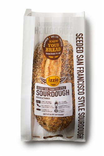 Izzio Seeded San Francisco Style Sourdough Bread Perspective: front