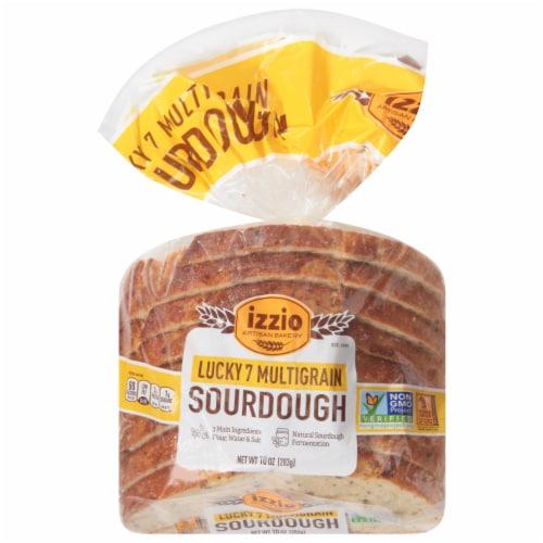 Izzio Lucky 7 Multigrain Sliced Bread 8 Count Perspective: front