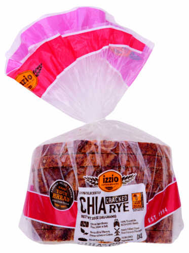 Izzio Chia Cracked Rye Bread 8 Count Perspective: front