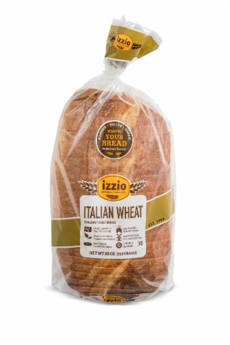 Izzio Artisan Bakery Italian Wheat Table Bread Perspective: front