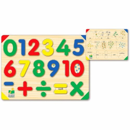 The Learning Journey Lift & Learn 123 Number Puzzle Perspective: front