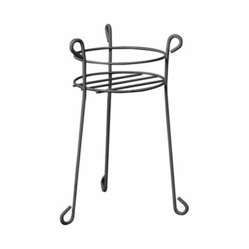 Products 89238 21 in. Heavy Duty Black Plant Stand Perspective: front
