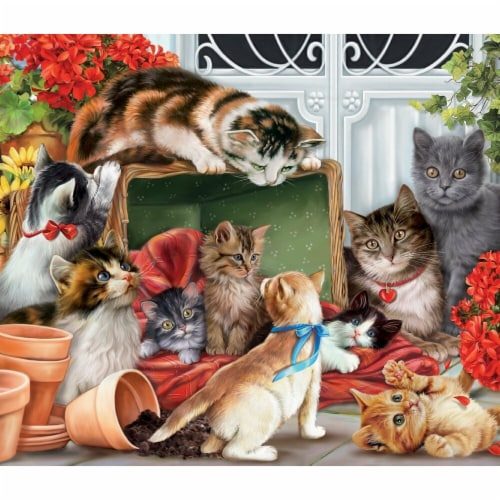 Vermont Christmas  Jigsaw Puzzle Garden Cats - 1000 Pieces Perspective: front