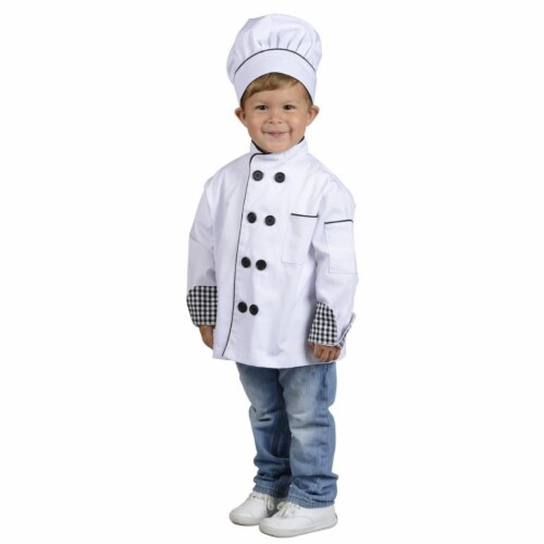 Junior Chef Jacket with Hat, Small Perspective: front