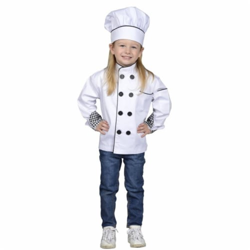 Junior Chef Jacket & Hat, Large Perspective: front