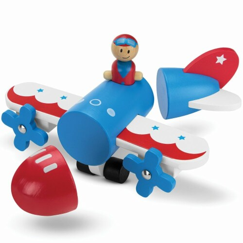 Make & Break Magnetic Airplane Perspective: front