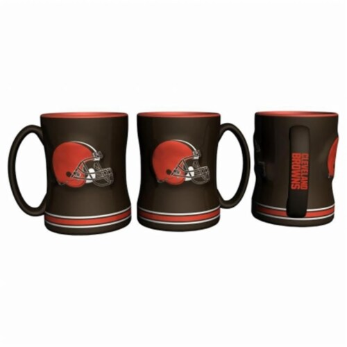 Cleveland Browns Coffee Mug - 14oz Sculpted Relief Perspective: front