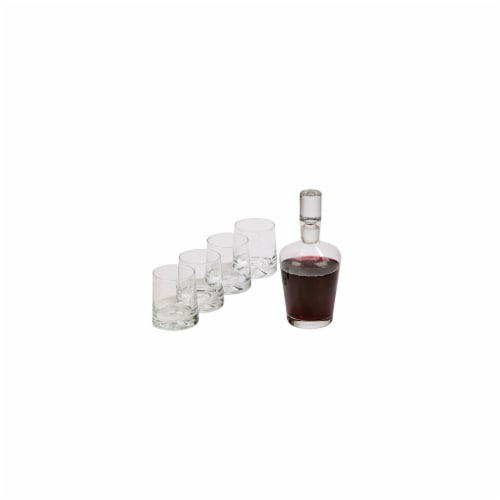 5 Piece Decanter Set 9.5 in. Decanter 4 Glass Perspective: front
