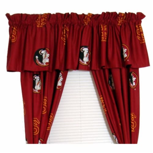 FSU Printed Curtain Panels 42 in. X 63 in. Perspective: front