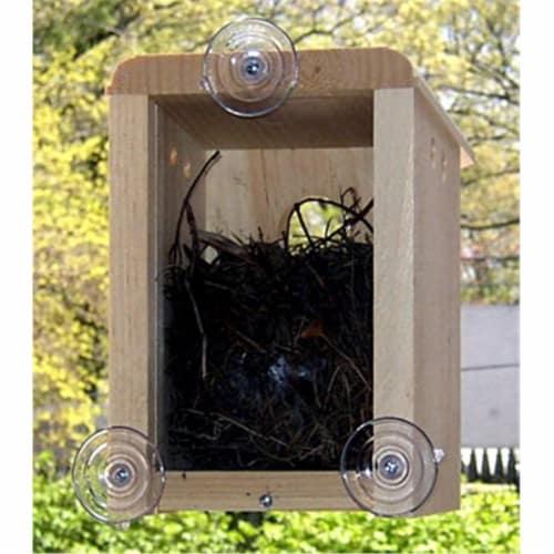 Window Nest Box Birdhouse Perspective: front