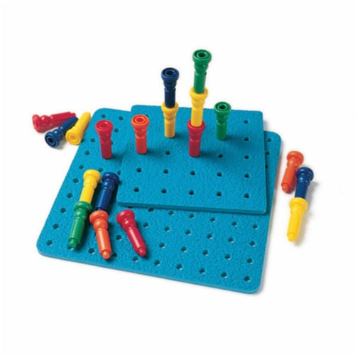 Large Tall-Stacker Peg Set-50 Pegs 11-1/2 100-Hole Board Perspective: front
