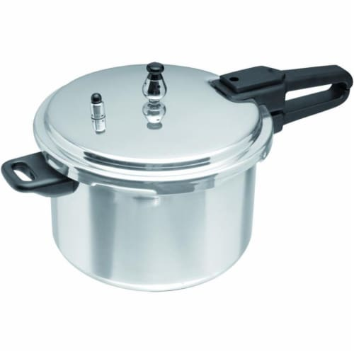 7 qt. Aluminum Pressure Cooker - Silver Perspective: front