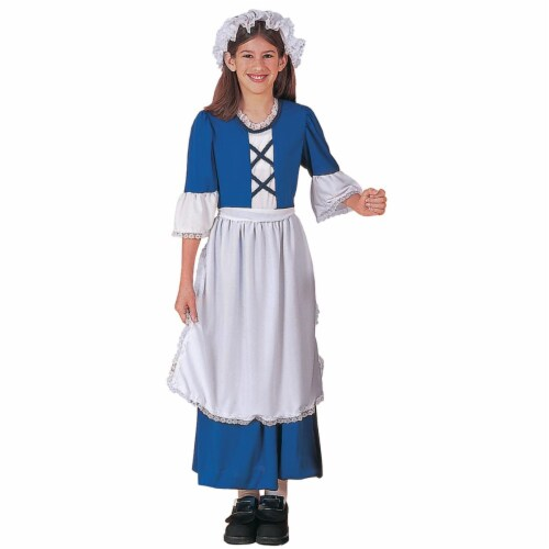 Little Colonial Miss Child Costume Perspective: front