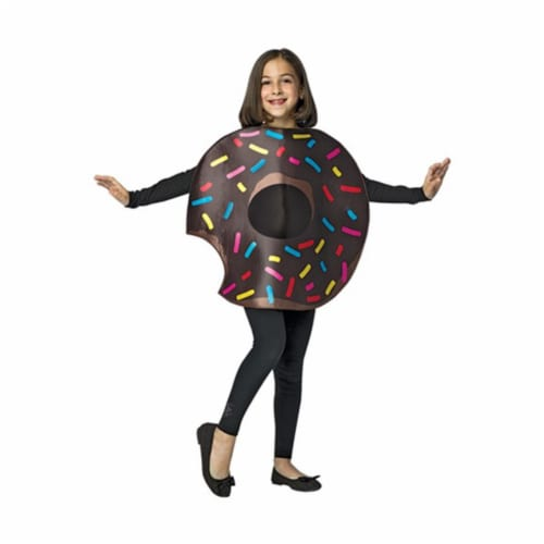 Chocolate Donut Bite Costume, Size 7-10 Perspective: front
